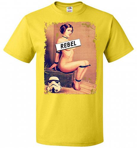 Princess Leia Rebel Youth Unisex T-Shirt Pop Culture Graphic Tee (Youth S/Yellow) Hum