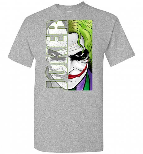Joker Unisex T-Shirt Pop Culture Graphic Tee (M/Sports Grey) Humor Funny Nerdy Geeky