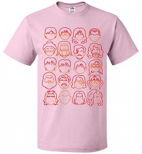 Harry Potter Heads Adult Unisex T-Shirt Pop Culture Graphic Tee (6XL/Classic Pink) Hu