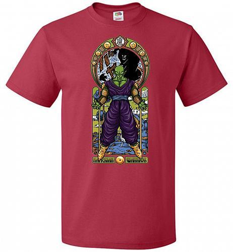 Namekian Warrior Unisex T-Shirt Pop Culture Graphic Tee (L/True Red) Humor Funny Nerd