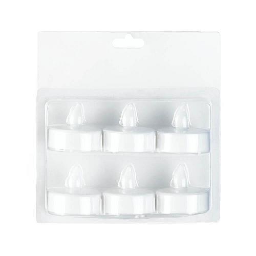 *17888U - White LED Tea Light Flameless Candle 6 Pack
