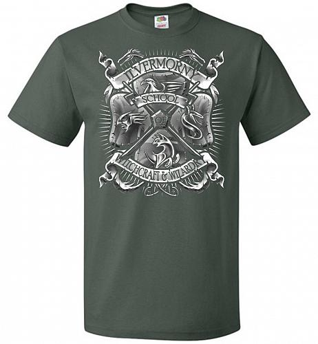 Fantastic Crest Unisex T-Shirt Pop Culture Graphic Tee (2XL/Forest Green) Humor Funny