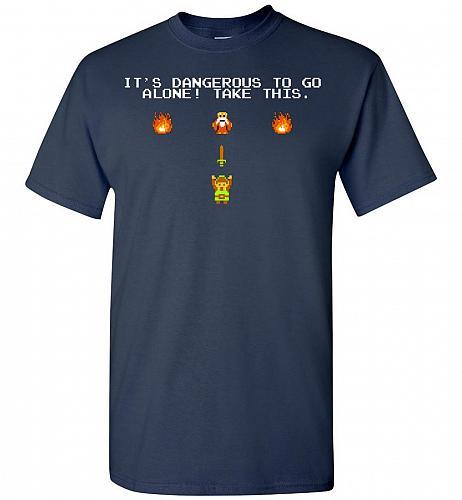 It's Dangerous To Go Alone! Classic Zelda Unisex T-Shirt Pop Culture Graphic Tee (5XL