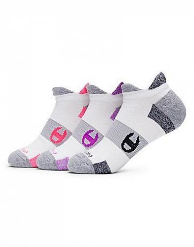 6 Pair Champion Women's Double-Heel Shield Running Socks #CH660