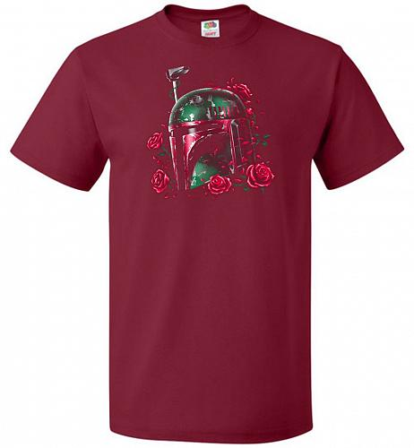 Phantom Of The Empire Fett Unisex T-Shirt Pop Culture Graphic Tee (S/Cardinal) Humor