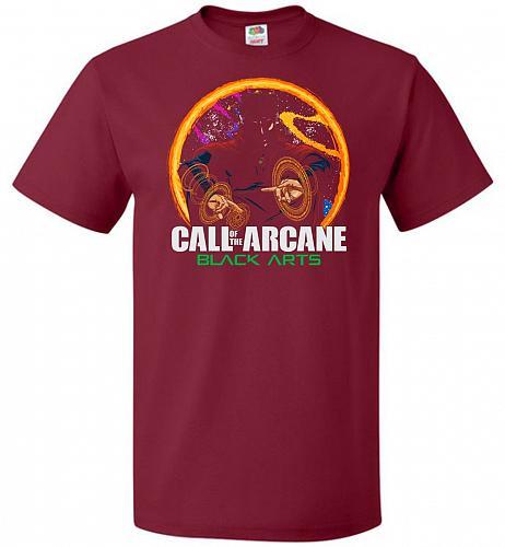 Modern Warlock Unisex T-Shirt Pop Culture Graphic Tee (M/Cardinal) Humor Funny Nerdy