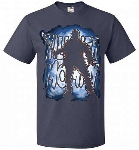 Jason Voorhees Killer Mommy Adult Unisex T-Shirt Pop Culture Graphic Tee (XL/J Navy)