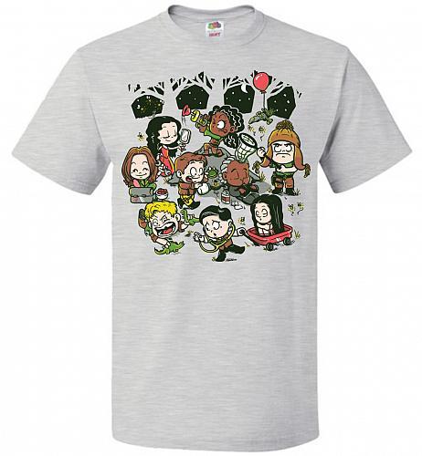 Let's Catch Fireflies Unisex T-Shirt Pop Culture Graphic Tee (M/Ash) Humor Funny Nerd