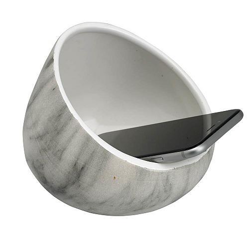 :10879U - White Marble Ceramic Boom Bowl