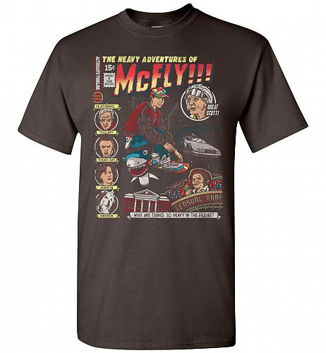 Heavy Adventures Of McFly! Unisex T-Shirt Pop Culture Graphic Tee (2XL/Dark Chocolate