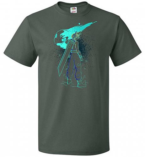 Shadow Of The Meteor Unisex T-Shirt Pop Culture Graphic Tee (4XL/Forest Green) Humor