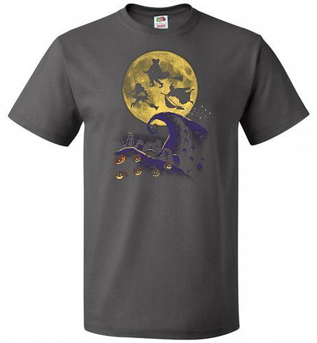 Hocus Pocus Halloween Unisex T-Shirt Pop Culture Graphic Tee (S/Charcoal Grey) Humor