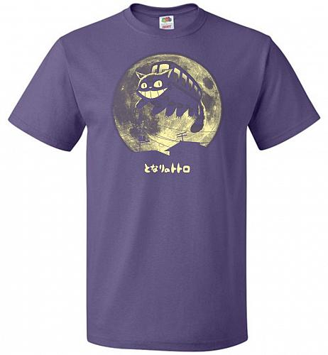 Cat Jump Unisex T-Shirt Pop Culture Graphic Tee (S/Purple) Humor Funny Nerdy Geeky Sh