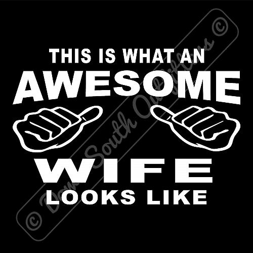 This Is What An Awesome Wife Looks Like T-shirt (16 Tee Colors)