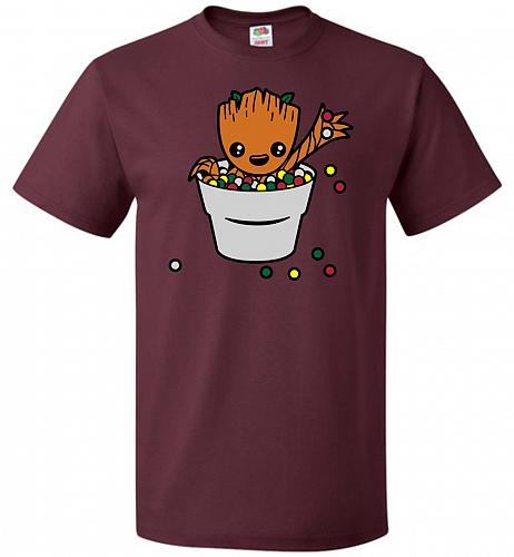 A Pot Full Of Candies Unisex T-Shirt Pop Culture Graphic Tee (S/Maroon) Humor Funny N