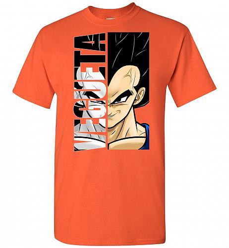 Vegeta Unisex T-Shirt Pop Culture Graphic Tee (3XL/Orange) Humor Funny Nerdy Geeky Sh