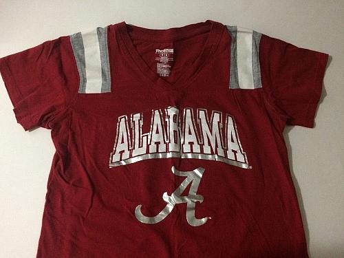 PROEDGE #14 Alabama Crimson Tide V-Neck T-Shirt Youth Medium 100% Cotton NWOT