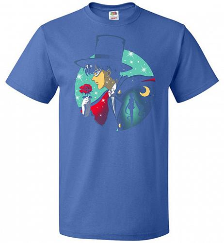 Knight Of The Moonlight Unisex T-Shirt Pop Culture Graphic Tee (XL/Royal) Humor Funny