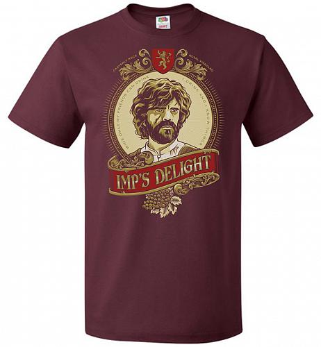 Imp's Delight Unisex T-Shirt Pop Culture Graphic Tee (5XL/Maroon) Humor Funny Nerdy G