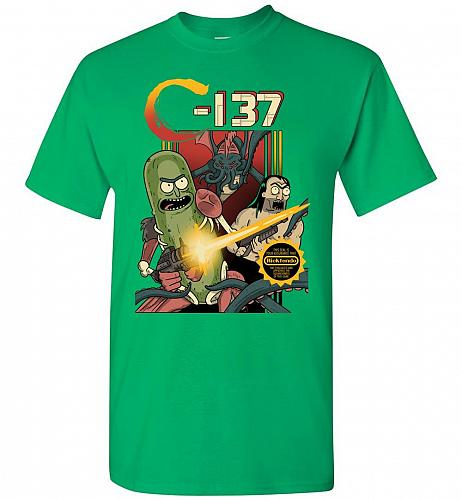 C-137 Schwifty Squad Unisex T-Shirt Pop Culture Graphic Tee (2XL/Irish Green) Humor F