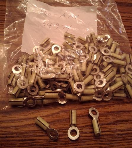 Lots of 100: AMP 34974 Ring Tongue Terminal :: FREE Shipping