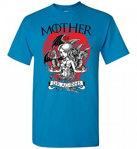 Mother of Dragons Unisex T-Shirt Pop Culture Graphic Tee (3XL/Sapphire) Humor Funny N