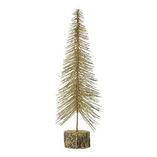 """*18481U - Medium 16"""" Gold Glitter Tree"""