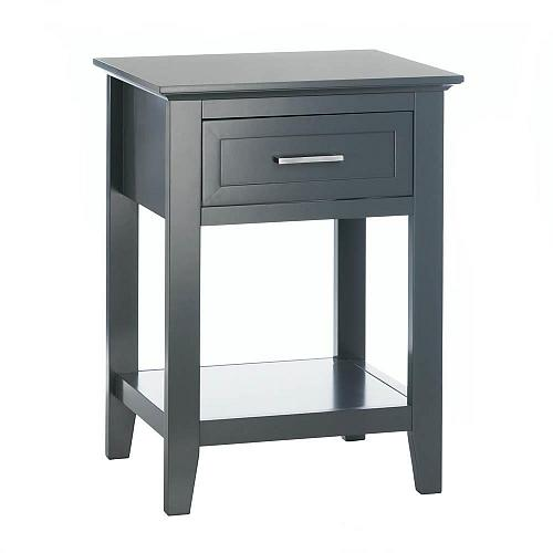 """*18184U - Gray Wood Crosstown 26"""" Side Table Accent Furniture"""