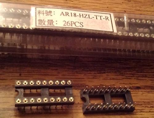 Lot of 52: Assmann AR18-HZL-TT-R 18 POS IC DIP SOCKET :: FREE Shipping