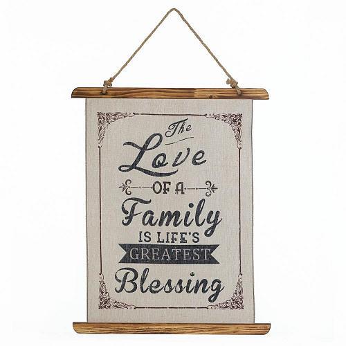 *18388U - The Love Of A Family Linen Wall Art