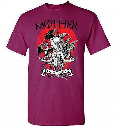 Mother of Dragons Unisex T-Shirt Pop Culture Graphic Tee (XL/Berry) Humor Funny Nerdy