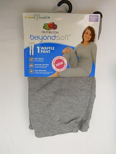 Womens Warm Underwear Pants Leggings Performance Baselayer Grey Heather Size 2XL
