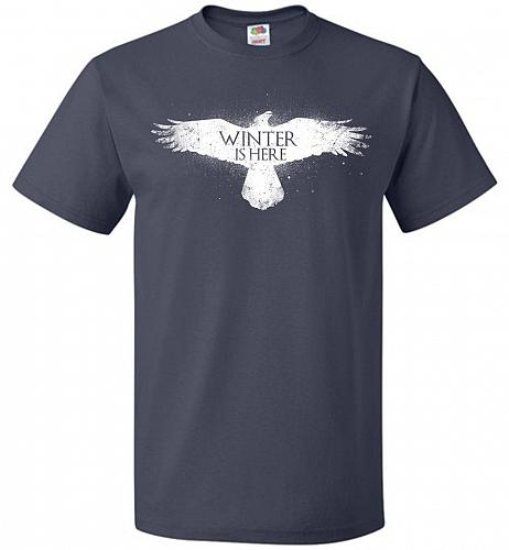 Winter Is Here Unisex T-Shirt Pop Culture Graphic Tee (5XL/J Navy) Humor Funny Nerdy