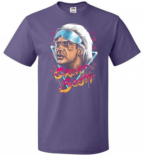 Great Scott Unisex T-Shirt Pop Culture Graphic Tee (6XL/Purple) Humor Funny Nerdy Gee