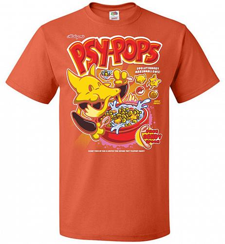 Alakagam's Psy-Pops Unisex T-Shirt Pop Culture Graphic Tee (XL/Burnt Orange) Humor Fu
