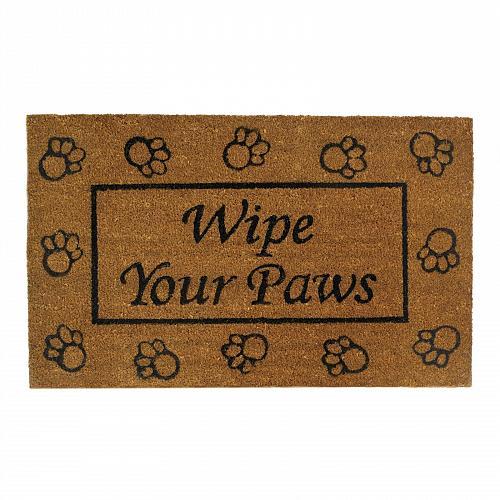 *17676U - Wipe Your Paws Coir & Rubber Welcome Door Mat