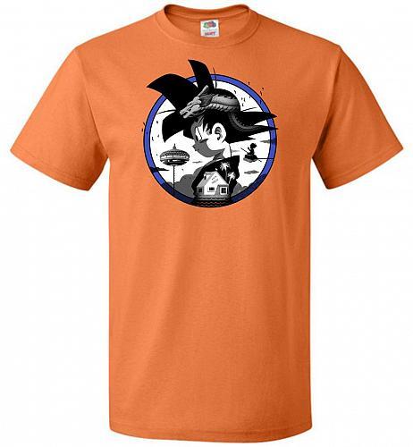 Saiyan Quest Unisex T-Shirt Pop Culture Graphic Tee (M/Tennessee Orange) Humor Funny