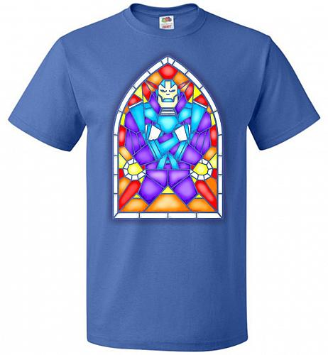 Apocolypse Stained Glass Unisex T-Shirt Pop Culture Graphic Tee (5XL/Royal) Humor Fun
