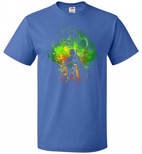 Mandalore Art Unisex T-Shirt Pop Culture Graphic Tee (6XL/Royal) Humor Funny Nerdy Ge