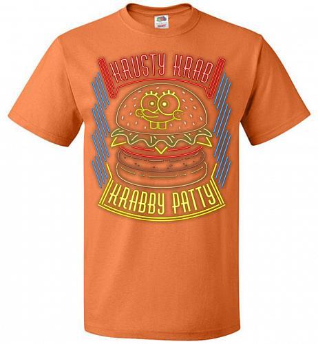 Krusty Krab Krabby Patty Adult Unisex T-Shirt Pop Culture Graphic Tee (2XL/Tennessee
