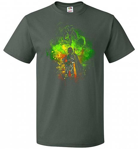 Mandalore Art Unisex T-Shirt Pop Culture Graphic Tee (3XL/Forest Green) Humor Funny N