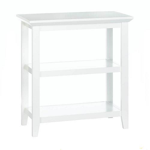 *18186U - White Slim Display Wood Accent Table
