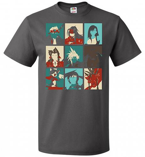 Final Pop Unisex T-Shirt Pop Culture Graphic Tee (2XL/Charcoal Grey) Humor Funny Nerd