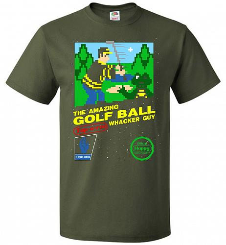 Happy Golf Nintendo Parody Cover Adult Unisex T-Shirt Pop Culture Graphic Tee (2XL/Mi