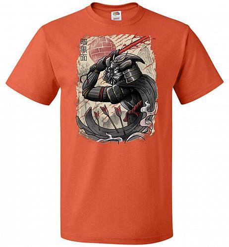 Dark Samurai Unisex T-Shirt Pop Culture Graphic Tee (6XL/Burnt Orange) Humor Funny Ne