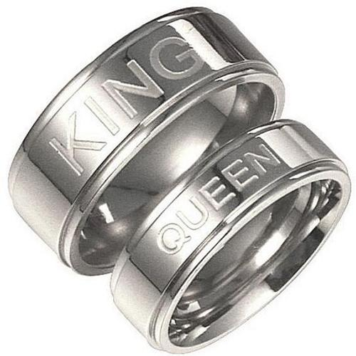 coi Jewelry Tungsten Carbide King Queen Wedding Band Ring