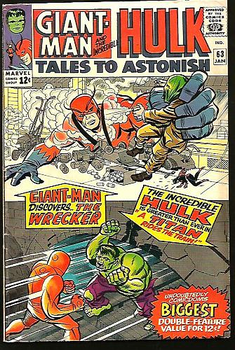 Tales To Astonish #63 Giant Man Hulk Marvel Comics 1964/5 SILVER AGE