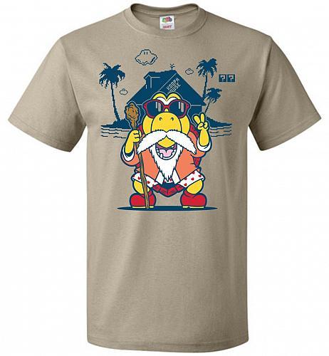 Turtle Hermit Unisex T-Shirt Pop Culture Graphic Tee (4XL/Khaki) Humor Funny Nerdy Ge