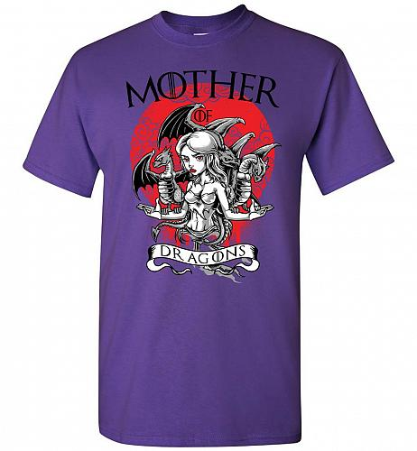 Mother of Dragons Unisex T-Shirt Pop Culture Graphic Tee (L/Purple) Humor Funny Nerdy