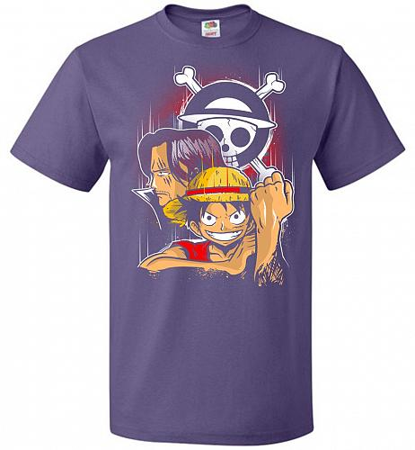 Pirate King Unisex T-Shirt Pop Culture Graphic Tee (L/Purple) Humor Funny Nerdy Geeky